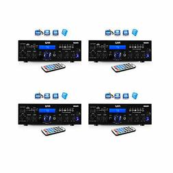 Pyle 200W Bluetooth LCD Home Stereo Amp Receiver w/Remote &