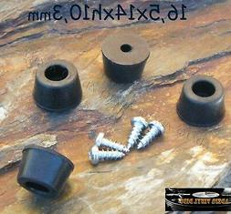 ♫ 4 Stamps Ø 0 21/32in Stands Shock Absorbers Black Rubbe
