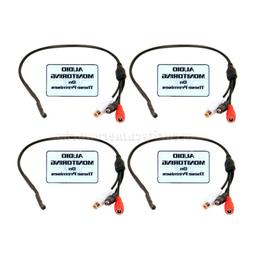 4x High Sensitive Preamp Mini Microphone with Power Bypass A