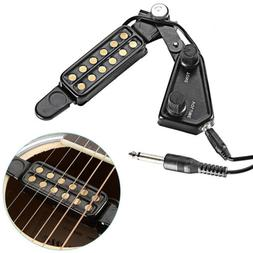 For Acoustic Guitar 12 Soundhole Pickup Clip On Preamp With