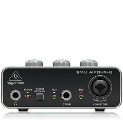 "BEHRINGER Audio Interface, 1x XLR/TRS 1x 1/4"" 2X RCA USB, Bl"