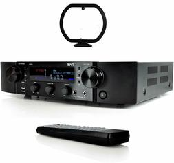 Pyle Bluetooth 2Ch Hybrid Stereo Receiver Pre-Amplifier AM/F