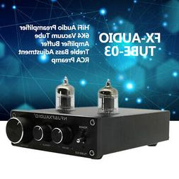 Fx-Audio Tube-03 Hifi Audio Preamplifier 6k4 Vacuum Tube Amp