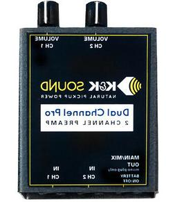 K&K Sound Dual Channel Pro Two Channel Guitar Preamp, Dual 1