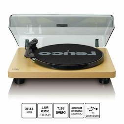 Lenco L-30 Turntable with Preamp & USB - Wood Finish L30WD