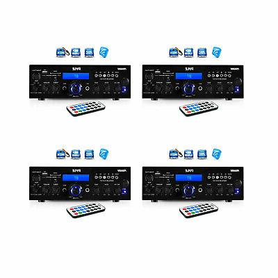 200w bluetooth lcd home stereo amp receiver
