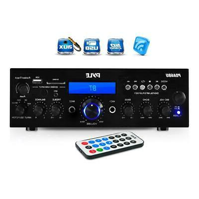200w bluetooth lcd home stereo amplifier receiver