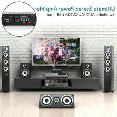 240W COMPACT AUDIO POWER AMP AMPLIFIER THEATER SYSTEM PLAYER