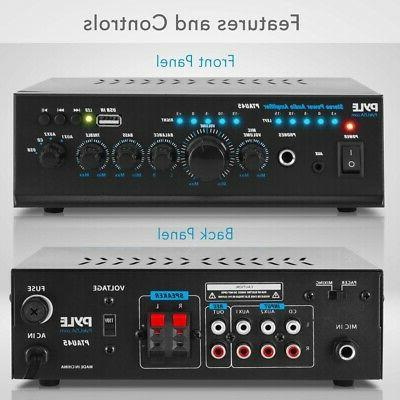 240W AUDIO STEREO POWER AMP AMPLIFIER THEATER SYSTEM USB MP3 PLAYER