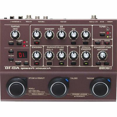 Boss AD-10 AD10 Acoustic Preamp New