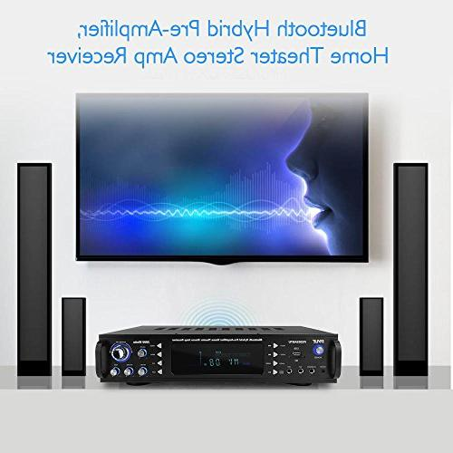 Bluetooth Stereo Wireless Theater Receiver, USB/SD/MP3/AUX/AM/FM,