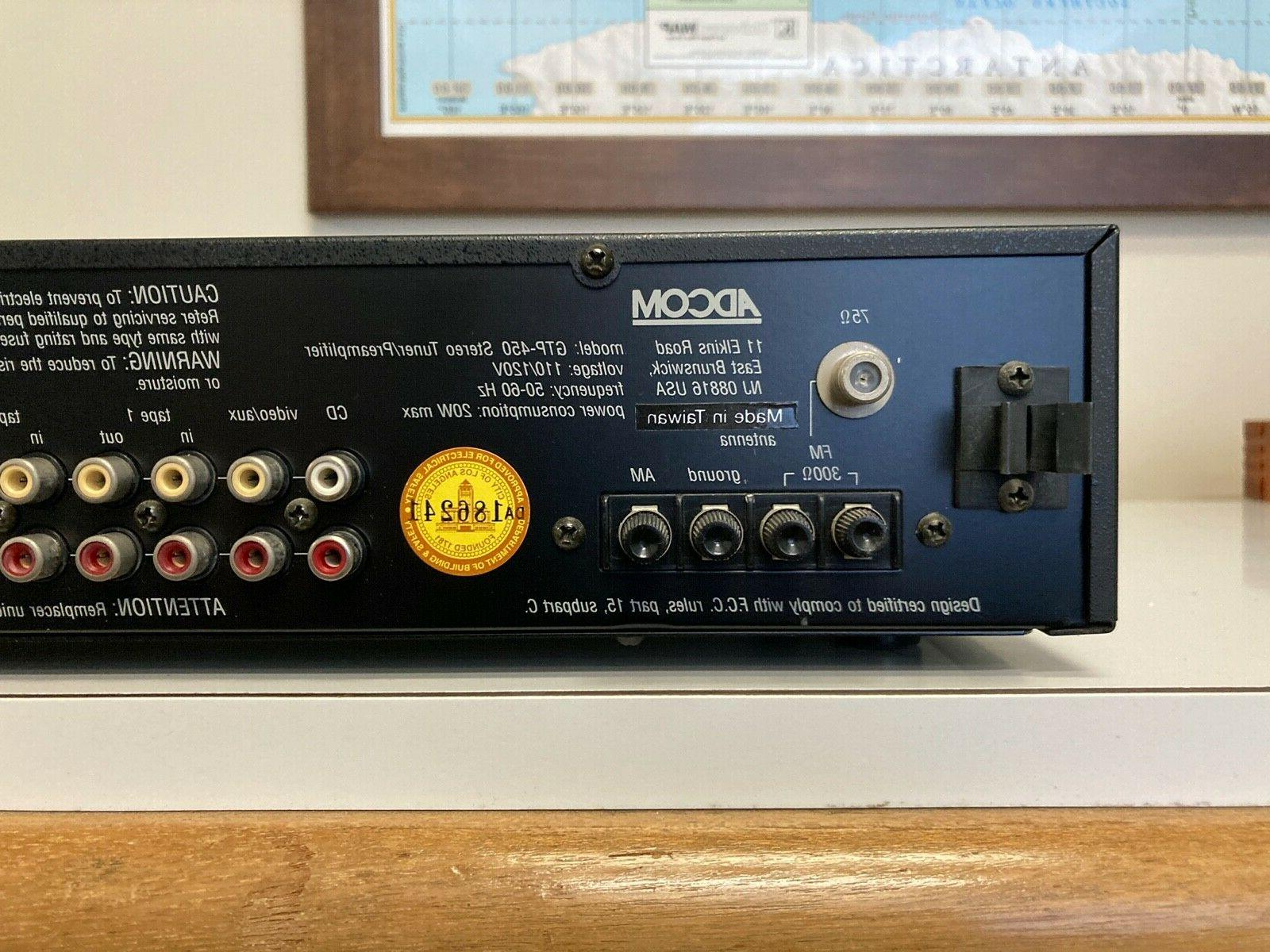 Adcom GTP-450 tuner in condition with remote
