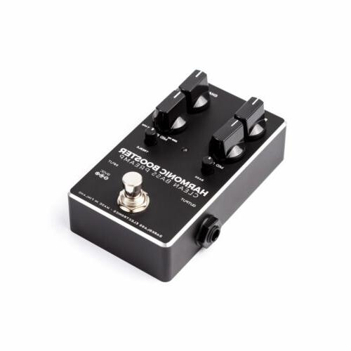 harmonic booster clean bass preamp pedal