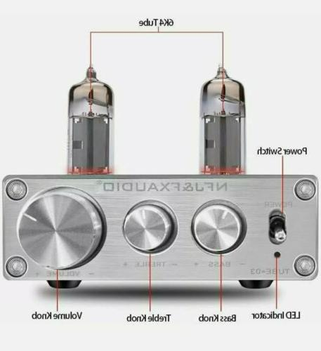 NFJ & FX-AUDIO TUBE-03 Tube Preamplifier Preamp 6K4 Tubes Bass NEW