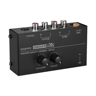 Phono Preamp Preamplifier with Level Volume Controls for LP