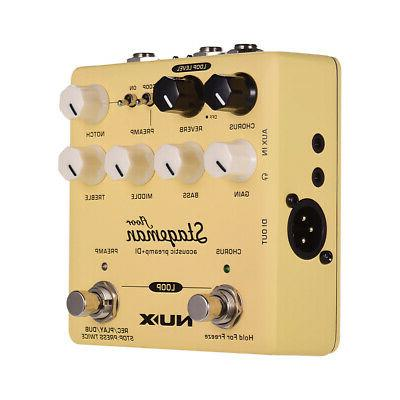 yellow nux stageman floor acoustic preamp di