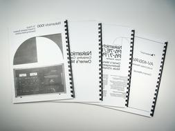 Nakamichi 610 Preamplifier Owners Instruction Manual