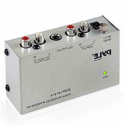 Pyle Phono Turntable Preamp - Mini Electronic Audio Stereo P