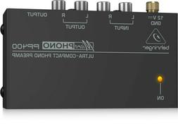 Behringer Pp400 Microphono Ultra Compact Phono Preamp Assort