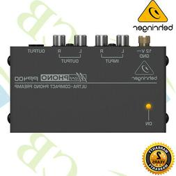Behringer PP400 Microphono Ultra Compact Phono Preamp High Q