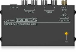 Behringer PP400 Silver Microphono Ultra-Compact Phono Preamp