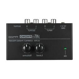PP500 Phono Preamp Preamplifier with Level Volume Control LP