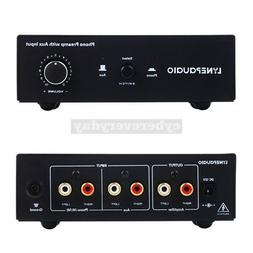 PHONO Pre-amp Prephonograph Signal Amplifier + Auxiliary Inp