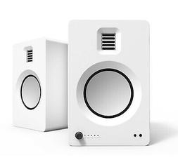 Kanto TUK Matte White Powered Speaker with Bluetooth and Pho