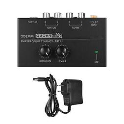 Turntable Phono Preamp Volume Controls Metal Electronic Leve