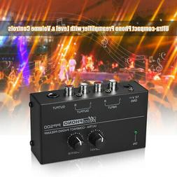 Ultra-compact Phono Preamp Preamplifier with Level & Volume
