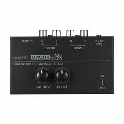 ultra compact phono preamplifier level volume control