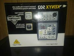 xenyx 502 5 channel 2 bus mixer