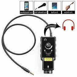 XLR Microphone Preamp Adapter For Smartphone Vlog Karaoke, 6