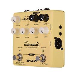 Yellow NUX Stageman Floor Acoustic Preamp   DI Effect Pedal